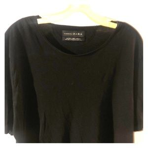 Zara low neck T-shirt